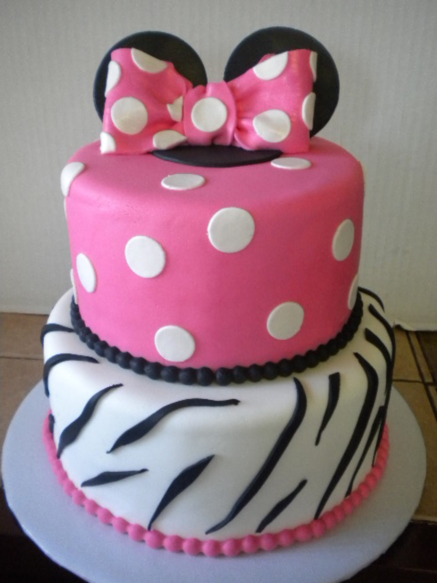 Minnie Mouse Zebra Cake CakeCentralcom