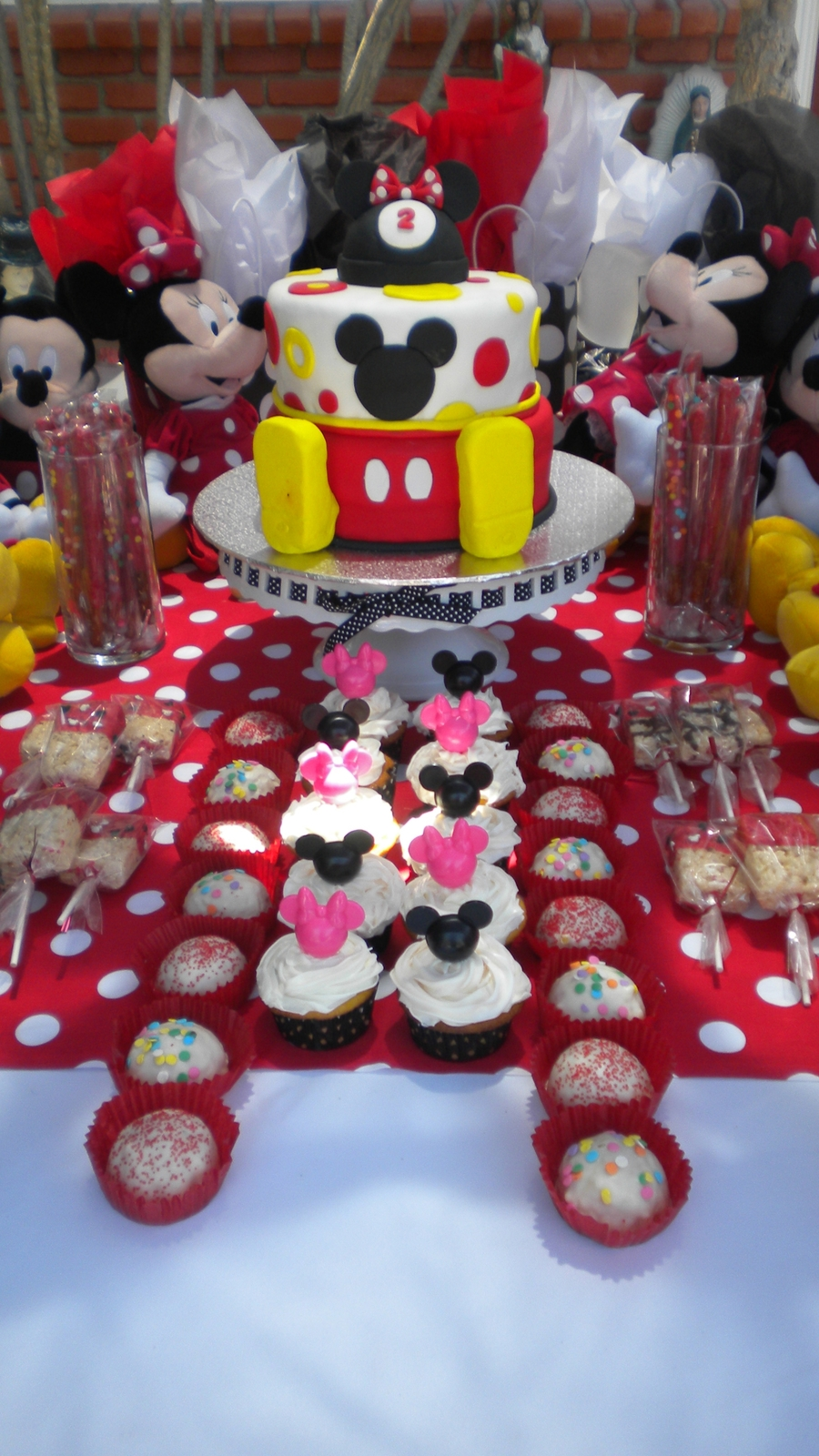 Minnie Mouse Cake And Dessert Bar on Cake Central