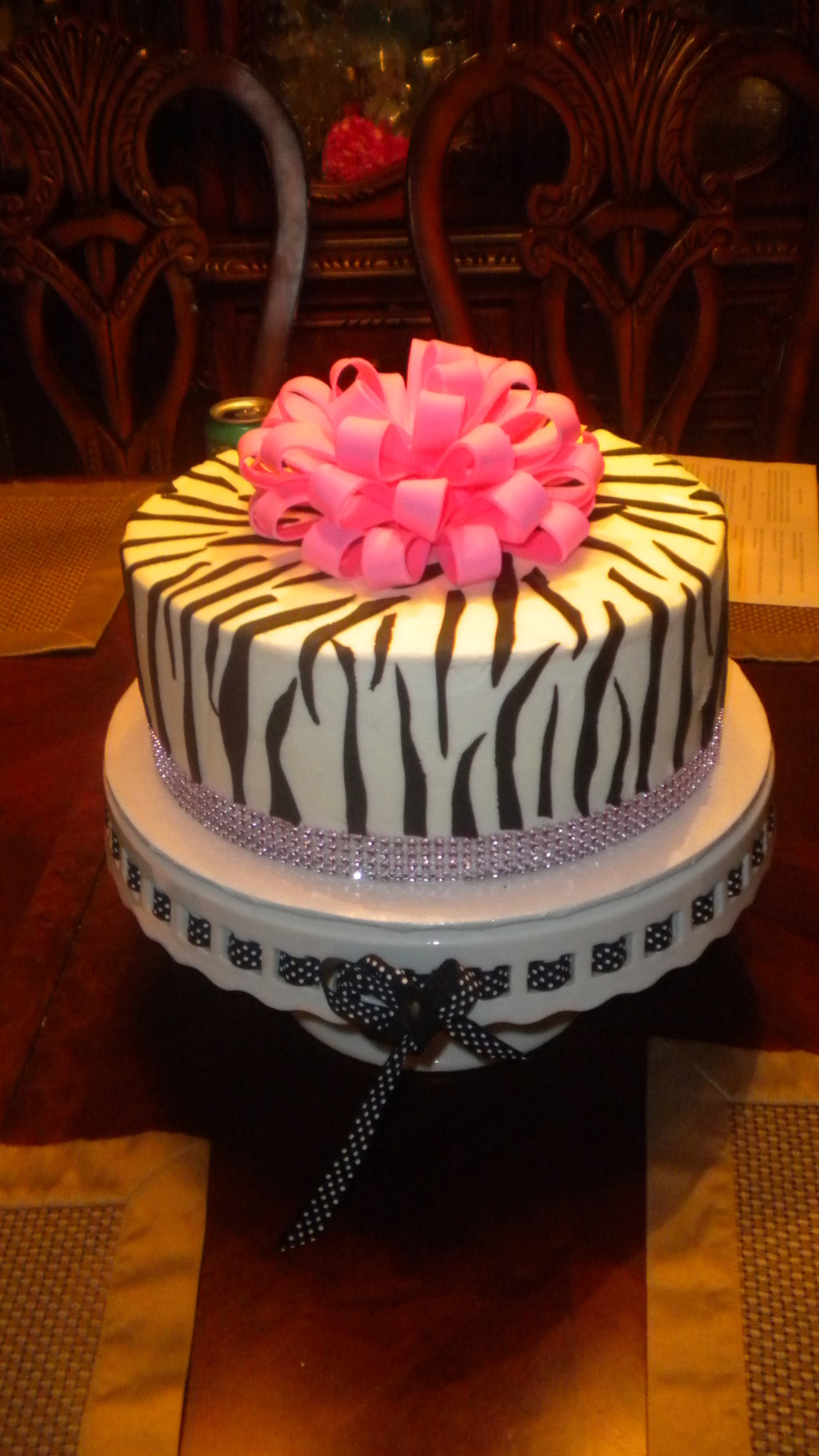 Zebra And Hot Pink Cake on Cake Central