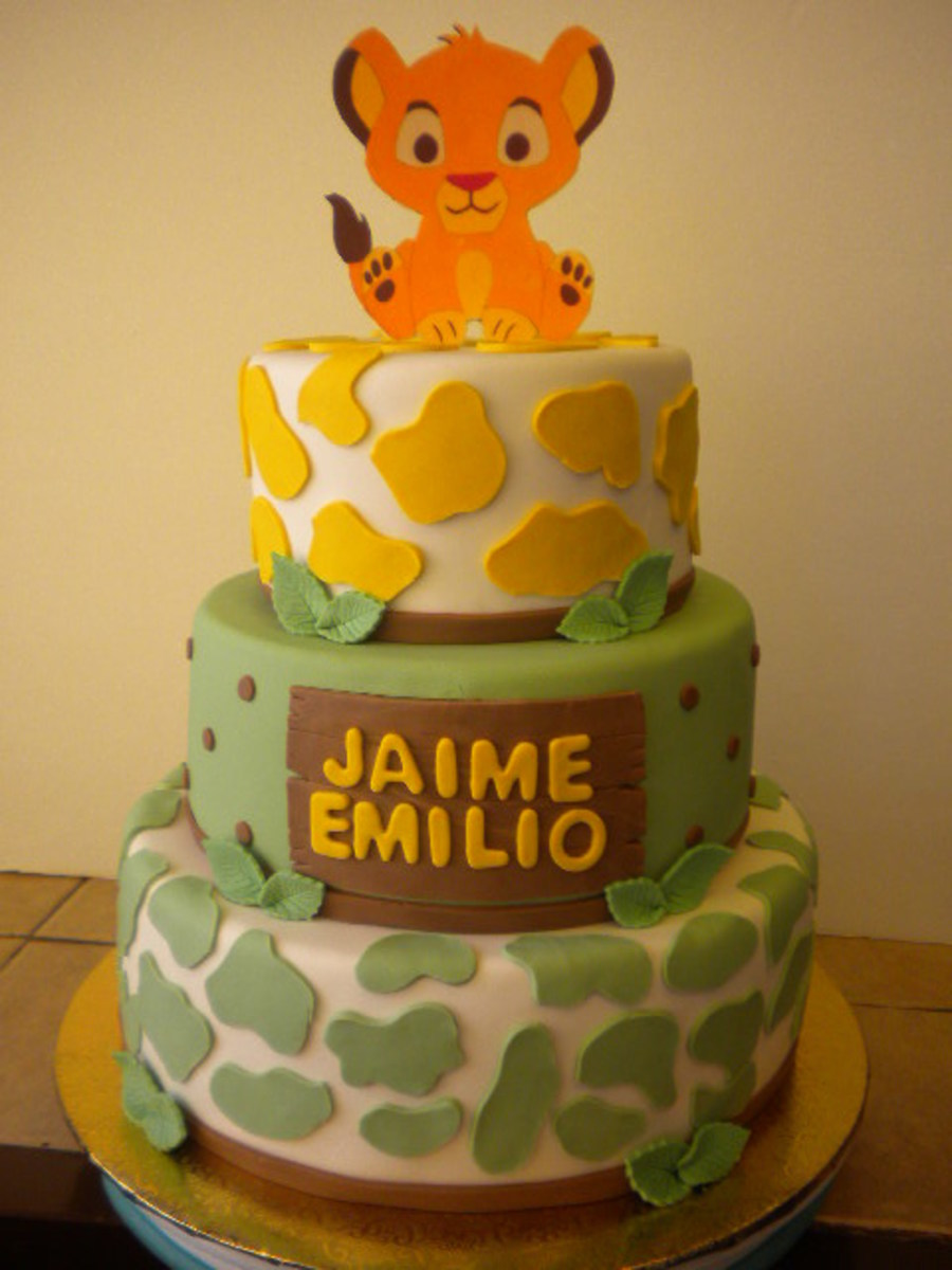 Lion King/simba Baby Shower Cake On Cake Central