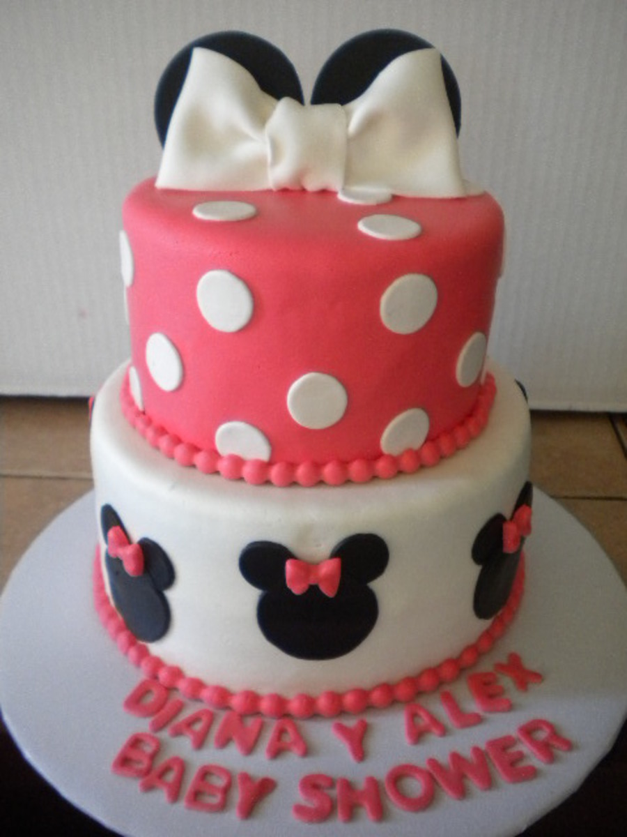Minnie Mouse Baby Shower Cake Cakecentral