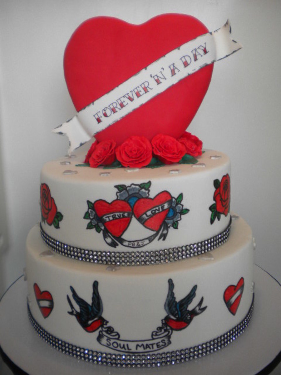 Forever And A Day Tattoo Cake Cakecentralcom