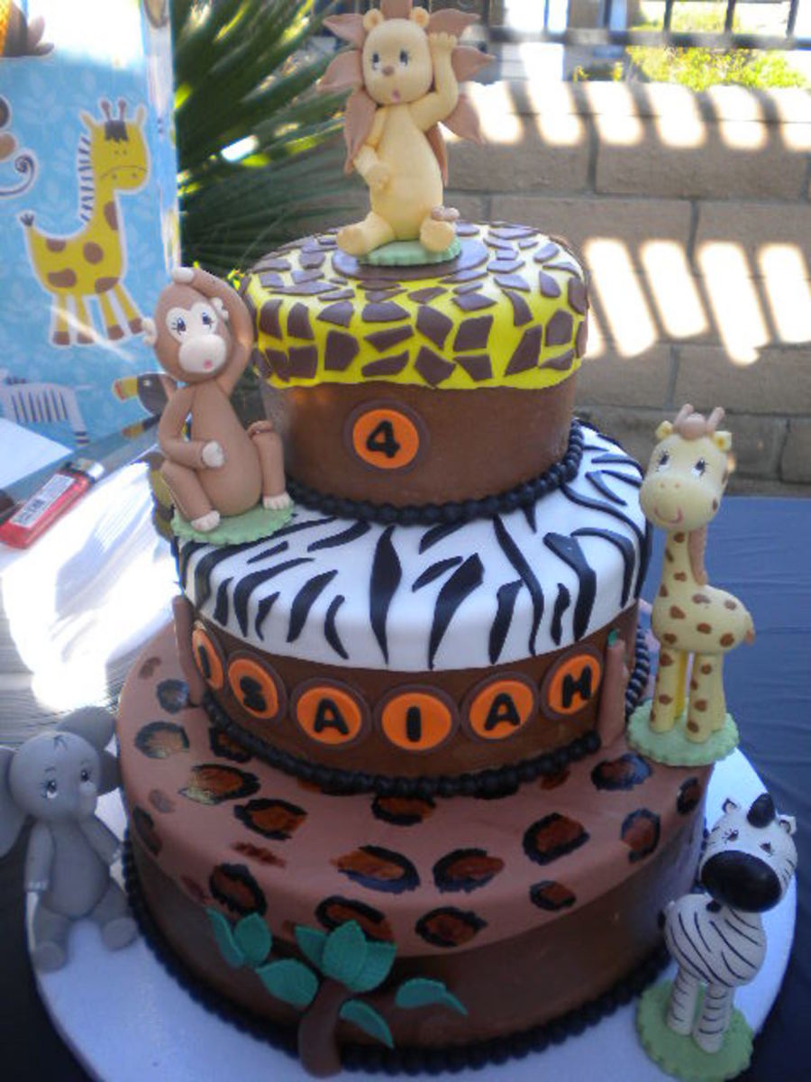 Safari Zoo Cake on Cake Central
