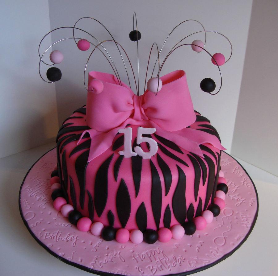 Pink Zebra Birthday CakeCentralcom