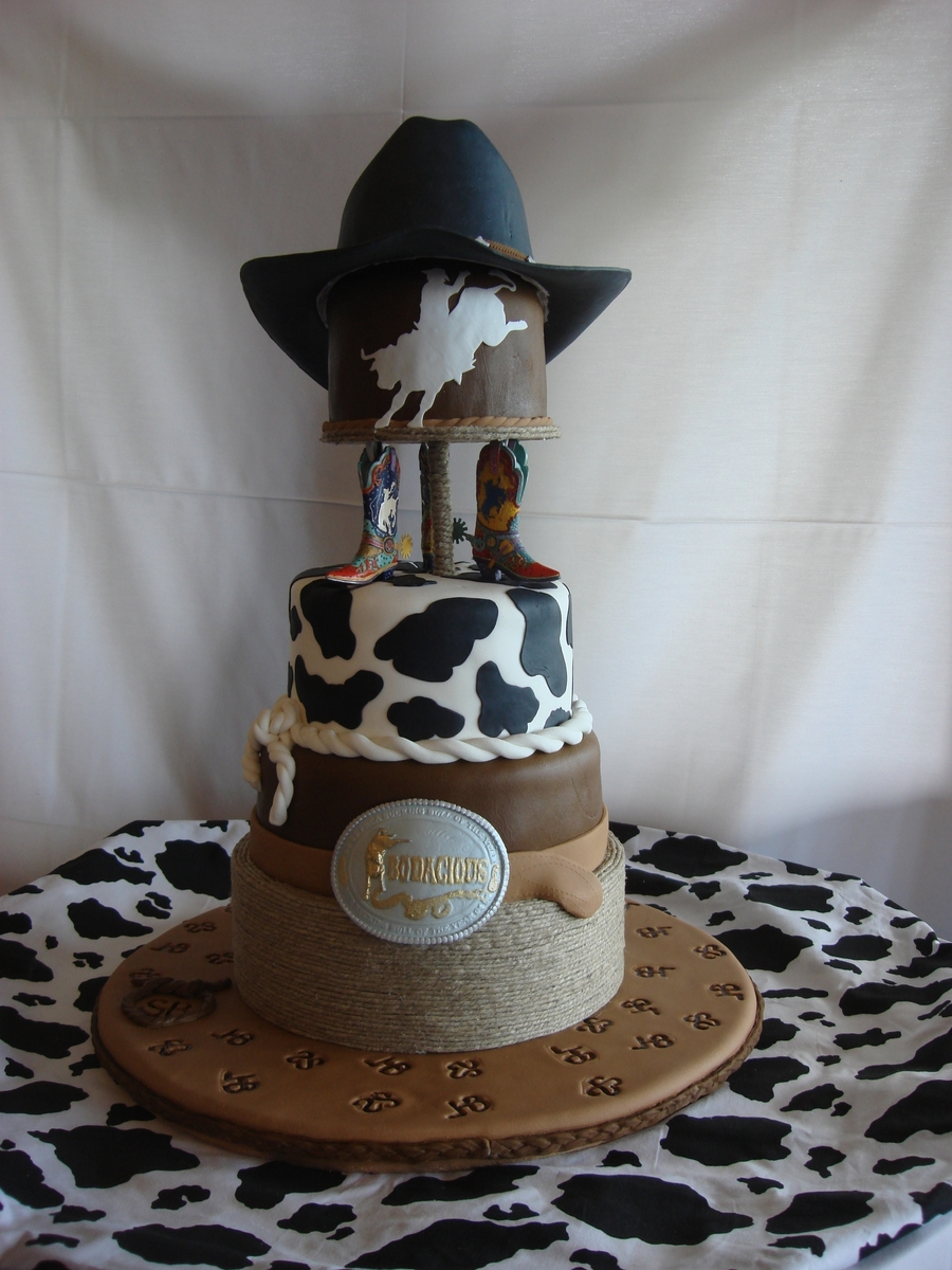 Western Rodeo Theme Grooms Cake Cakecentral Com