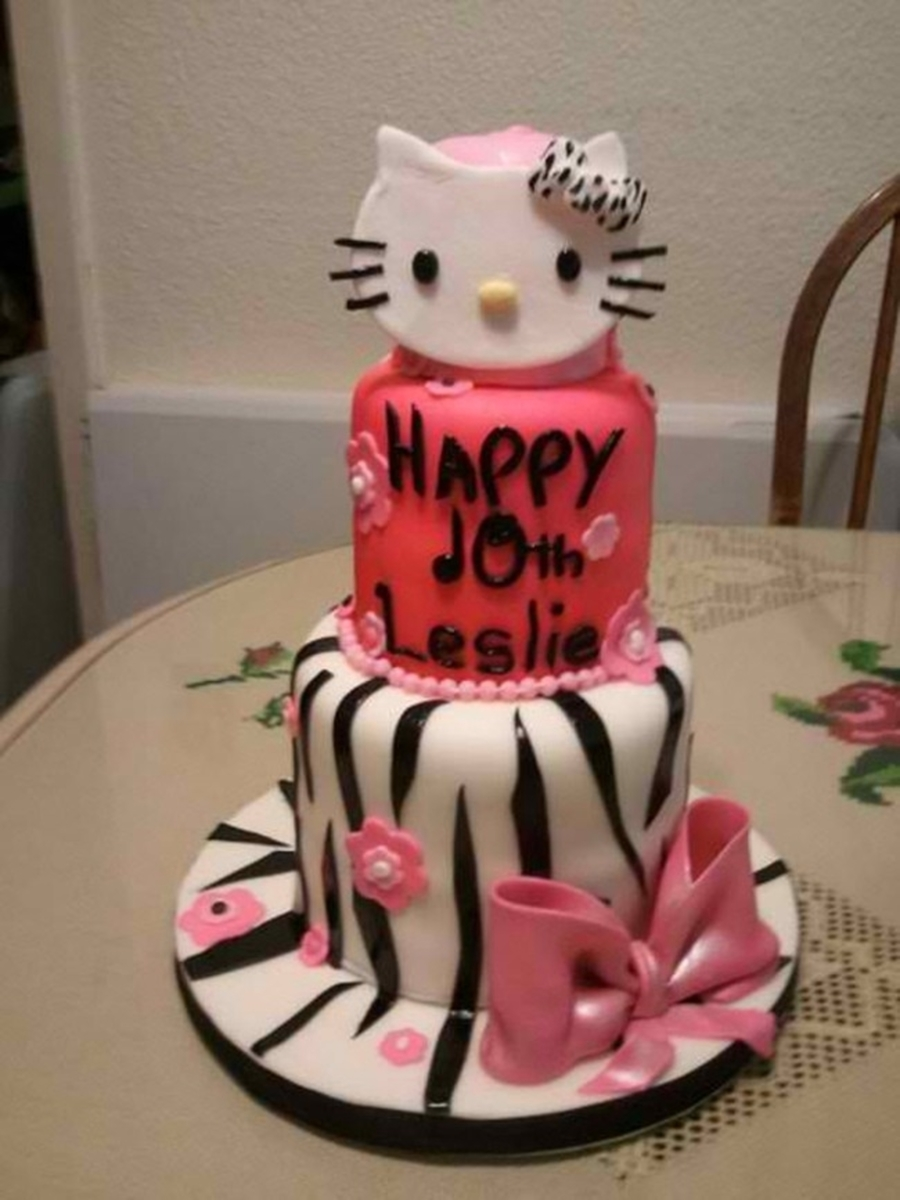 Hello Kitty Zebra on Cake Central