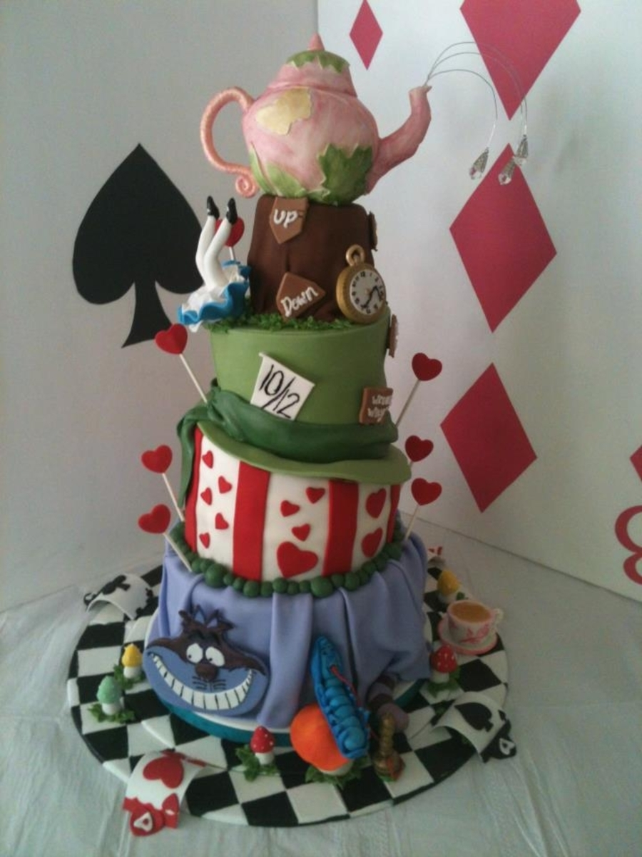 Bridal Shower Alice In Wonderland on Cake Central