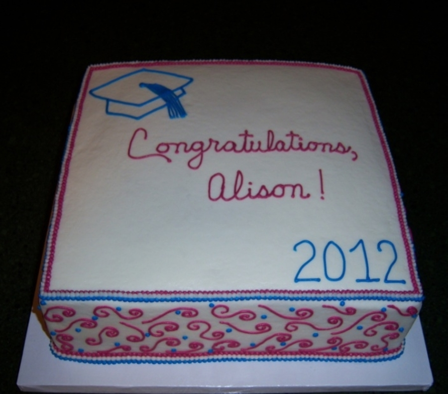 Alison's Graduation on Cake Central