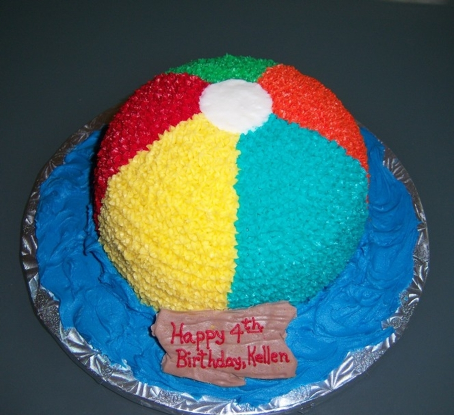 Beach Ball Themed Birthday Cakes