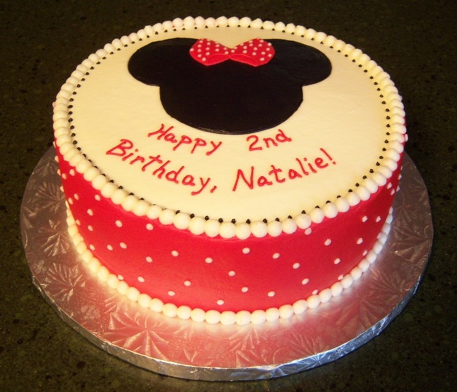 For A Little Friends Minnie Themed Party Scratch Red Velvet Cake With Buttercream on Cake Central