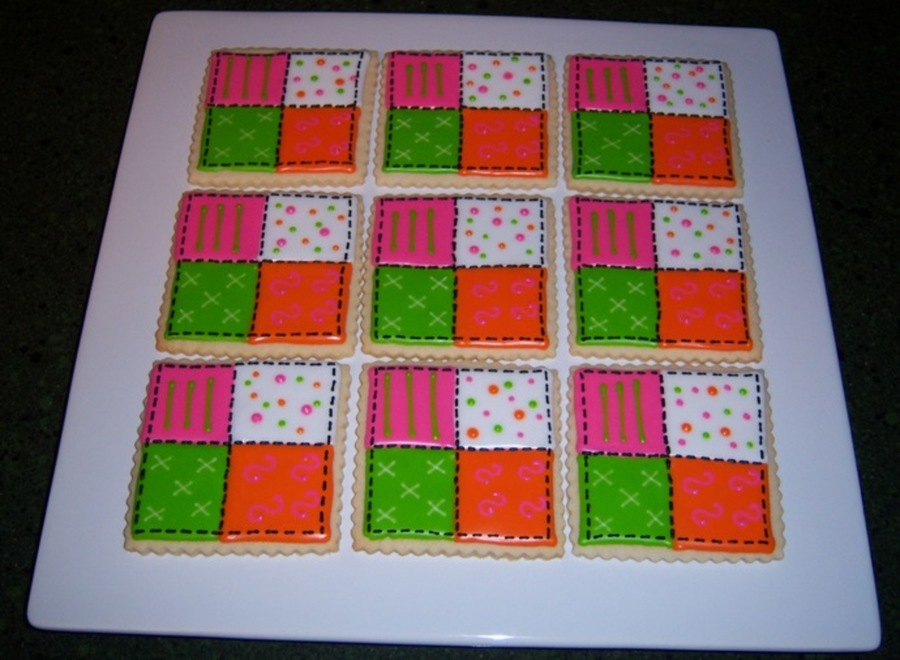 Quilt Cookies on Cake Central