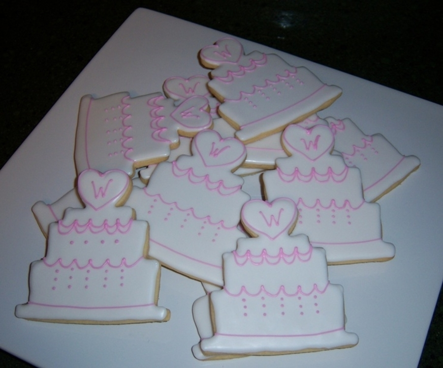 Wedding Cake Cookies  on Cake Central