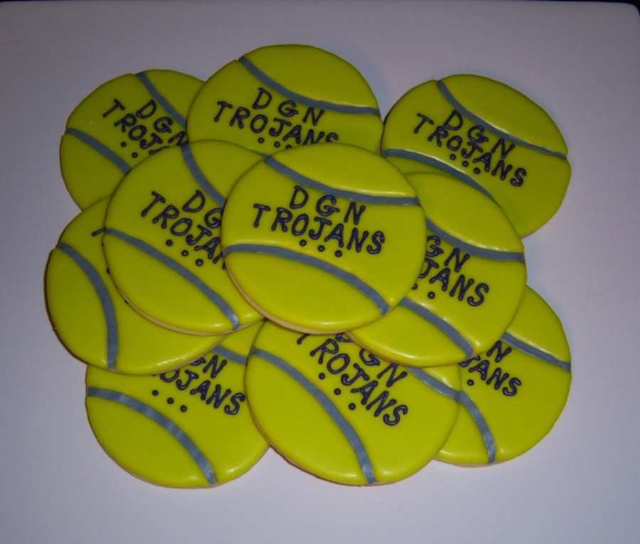 For A Local High School Tennis Teams End Of Season Celebration Scratch Sugar Cookies With Glace on Cake Central