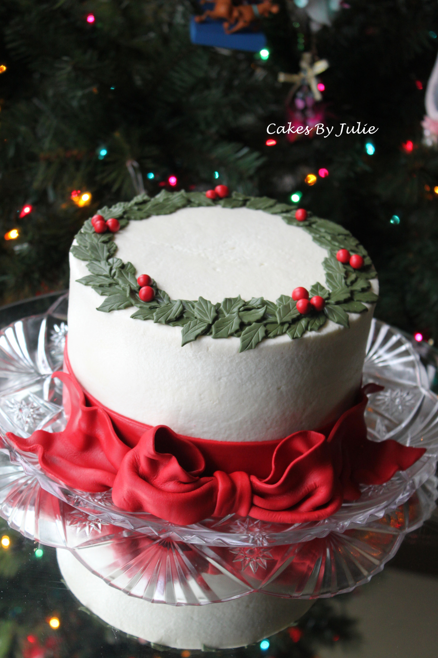 Quot Holly Quot Christmas Cake Cakecentral Com