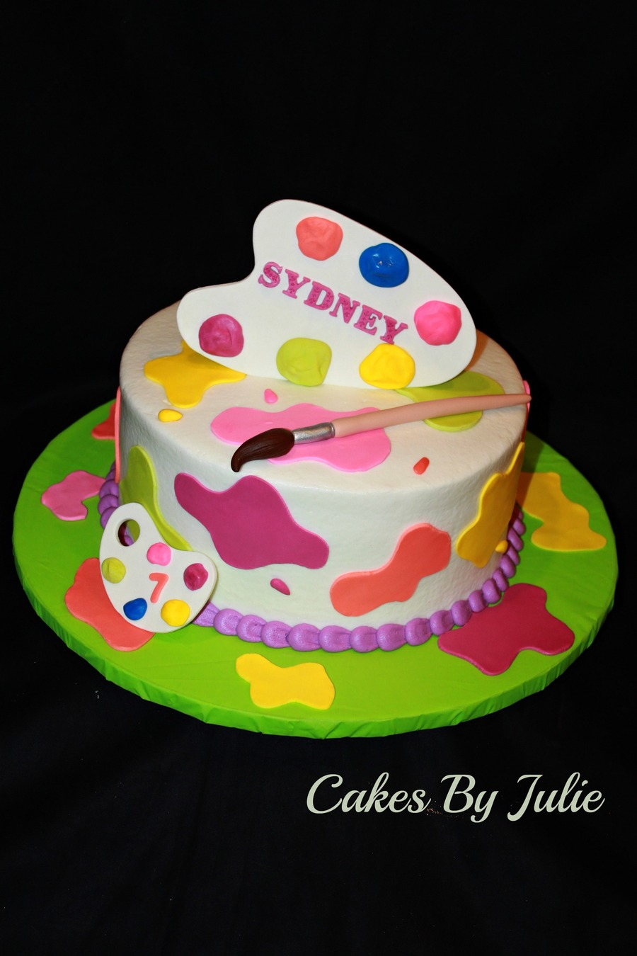 Artist Palette Cake Ideas : Painter s Palette Cake - CakeCentral.com