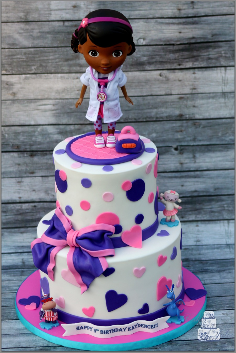 Superb Doc Mcstuffins Birthday Cake Cakecentral Com Personalised Birthday Cards Bromeletsinfo
