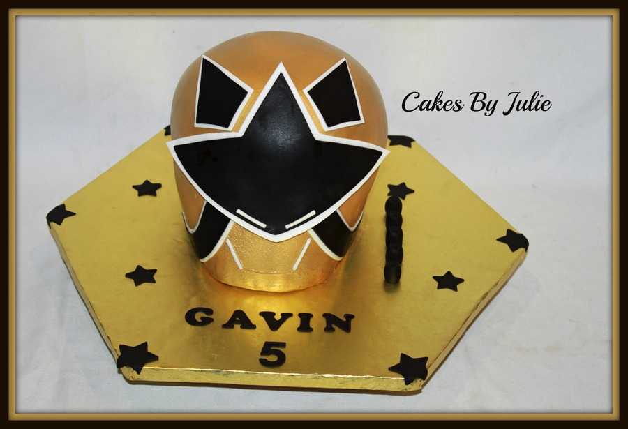 Gold Power Ranger Birthday Cake  on Cake Central