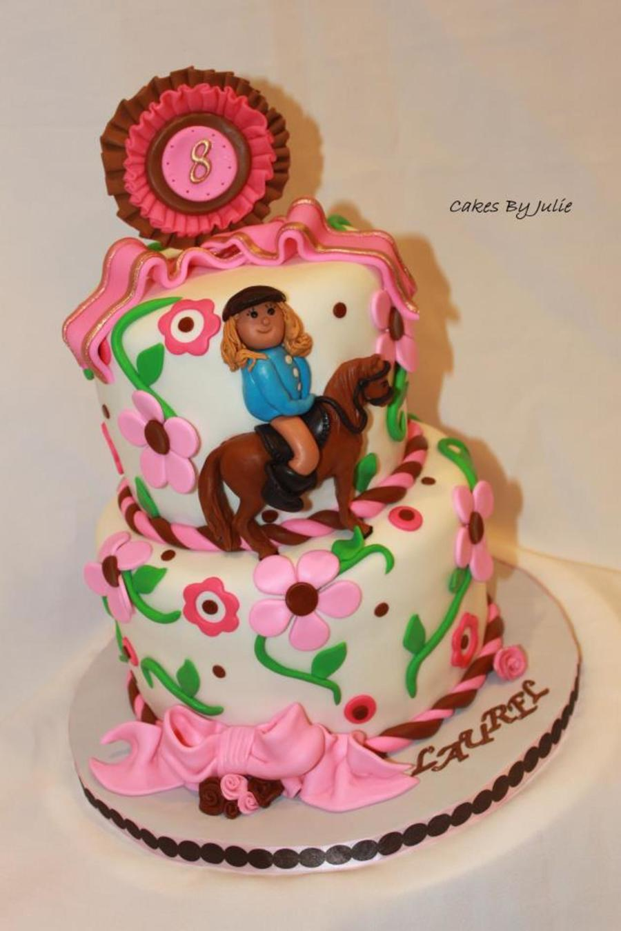 Girly Horse Cake For A Show Jumper.. on Cake Central
