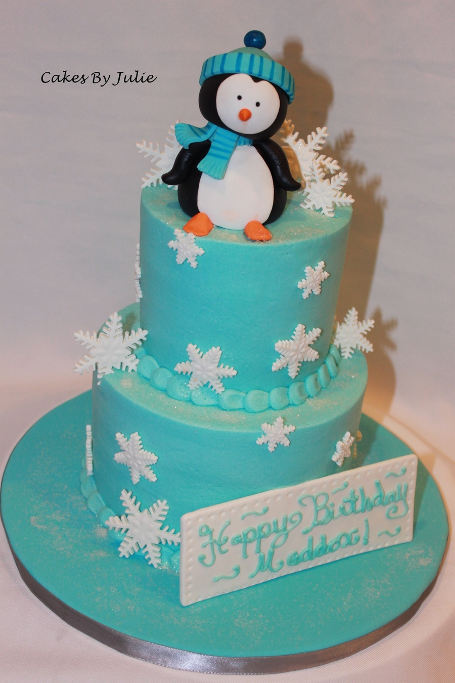 Images Of Blue Christmas Party Cakes