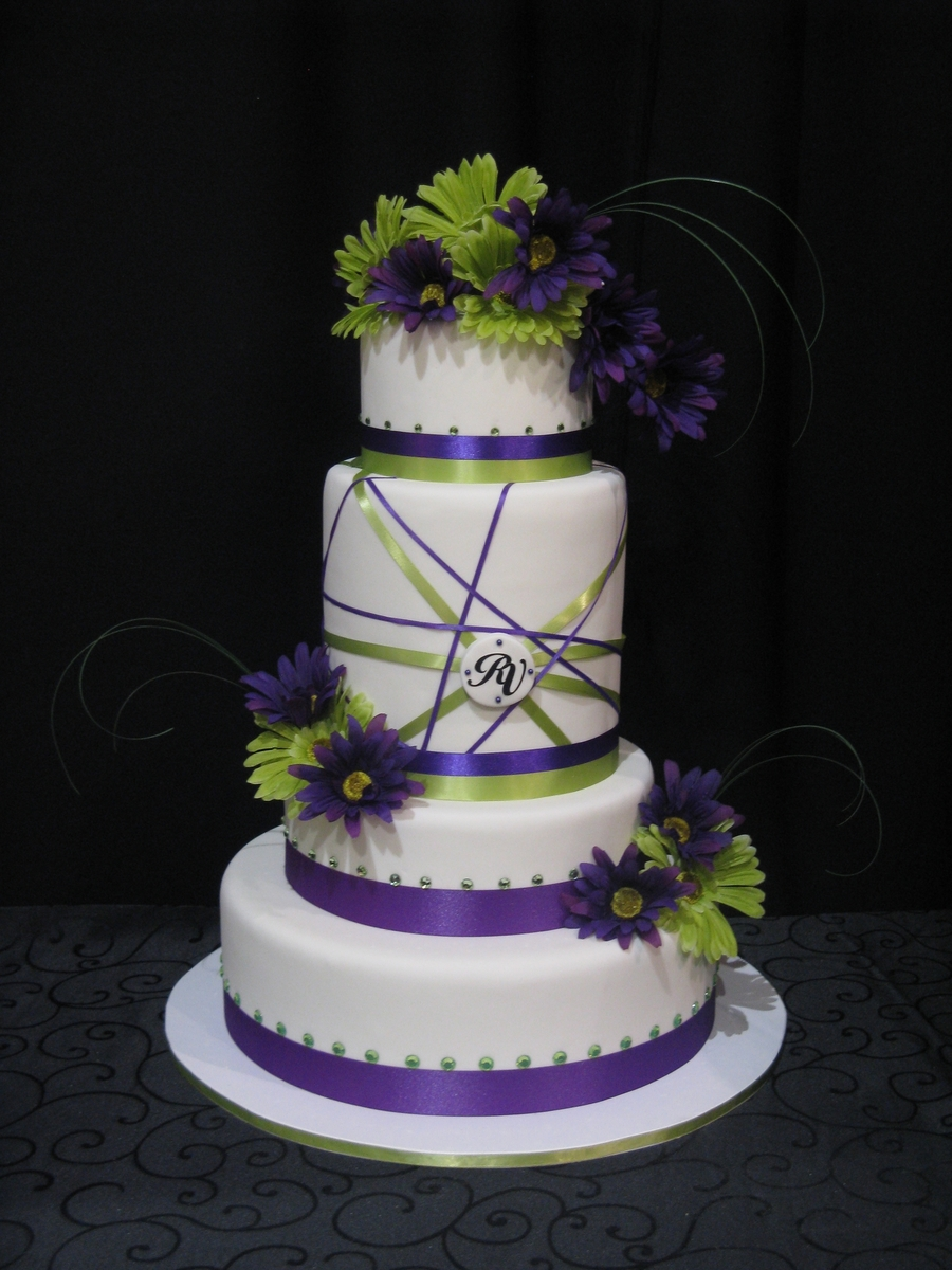 Purple And Green  on Cake Central