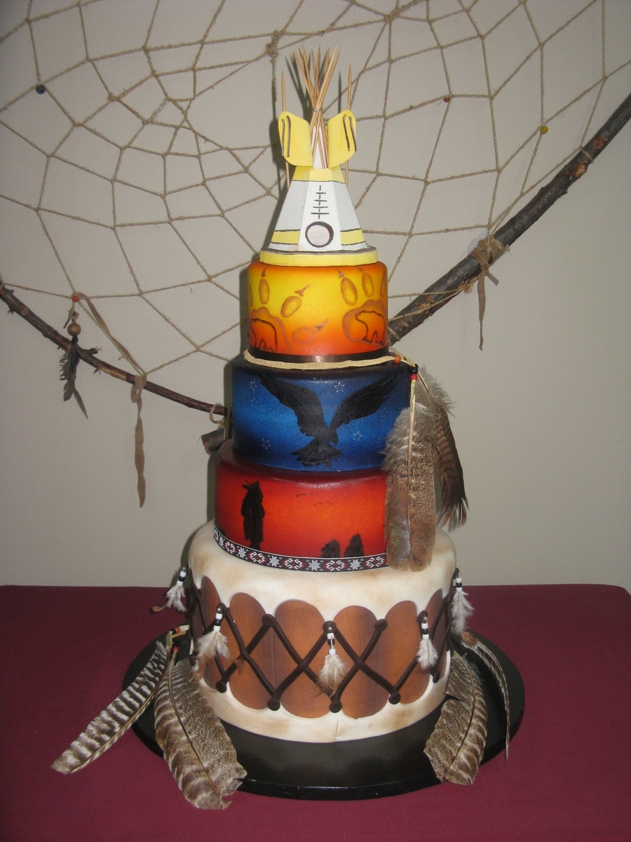 Native Tribute on Cake Central