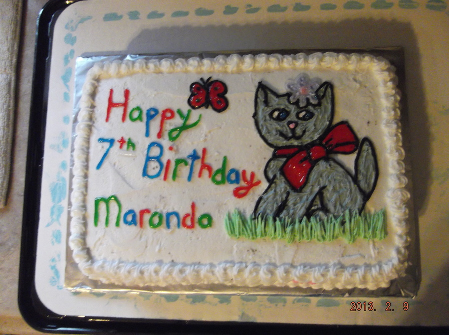 Kitty Cat Birthday Cake Cakecentral