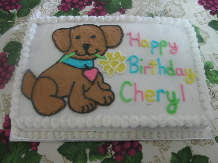 Magnificent Puppy Dog Birthday Cake Cakecentral Com Personalised Birthday Cards Veneteletsinfo