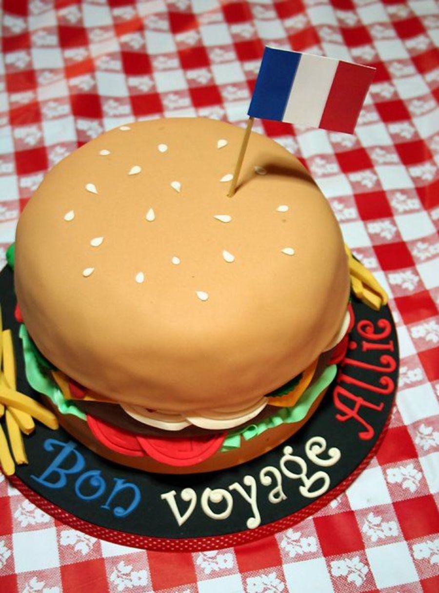 Allie's Burger Cake on Cake Central