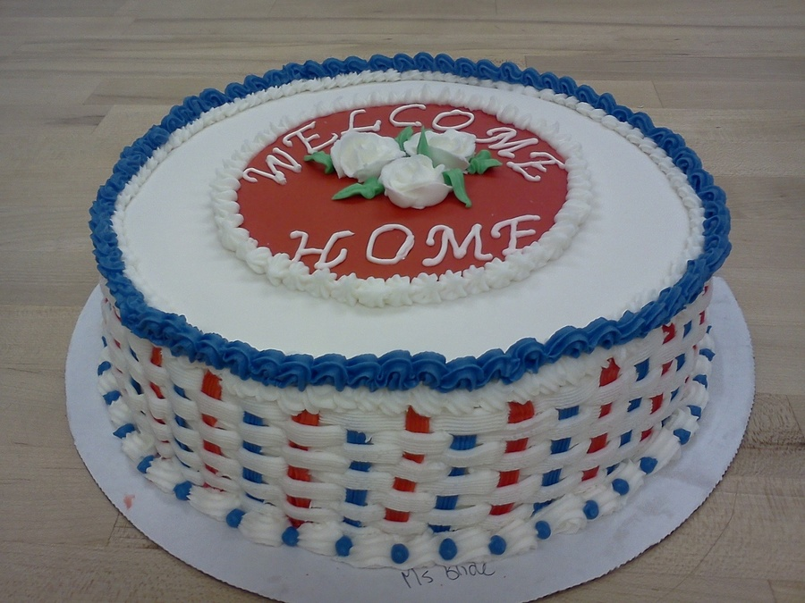 Patriotic Welcome Home on Cake Central