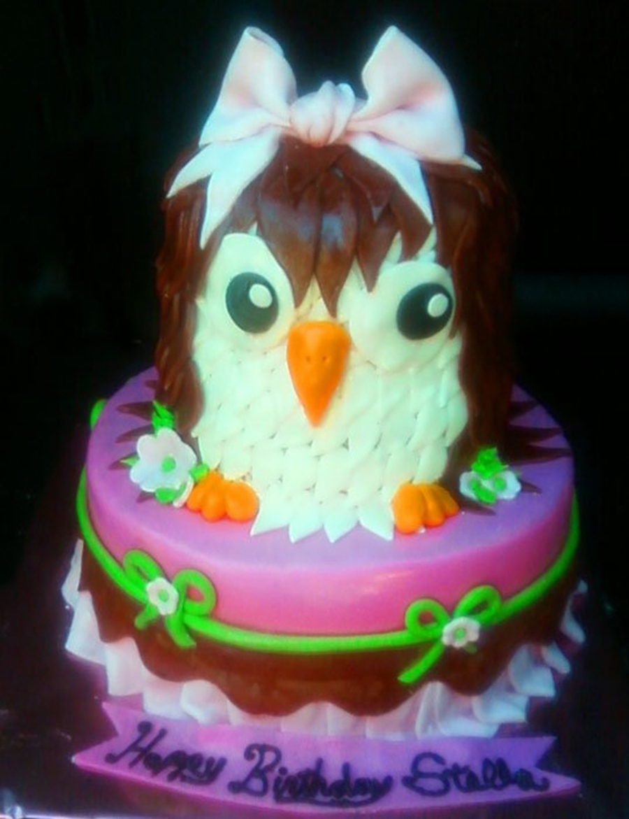 Cutey Owl on Cake Central