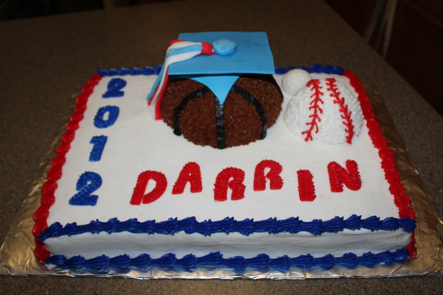 Sports Graduation  on Cake Central