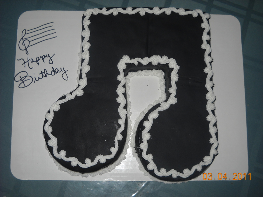 Music Note on Cake Central