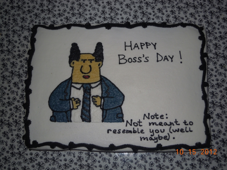 Boss's Day on Cake Central