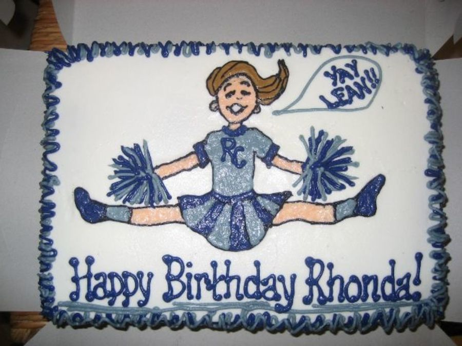 Marvelous Cheerleader Birthday Cakecentral Com Funny Birthday Cards Online Fluifree Goldxyz