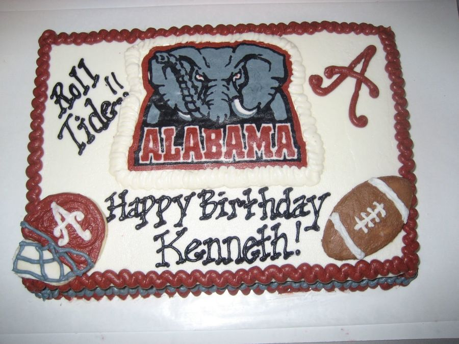 Alabama Roll Tide Birthday CakeCentralcom