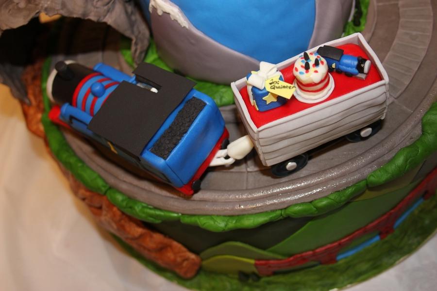 Thomas The Tank Engine Moving Train Cake CakeCentralcom