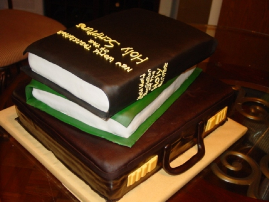 Mans Briefcase And Bible on Cake Central