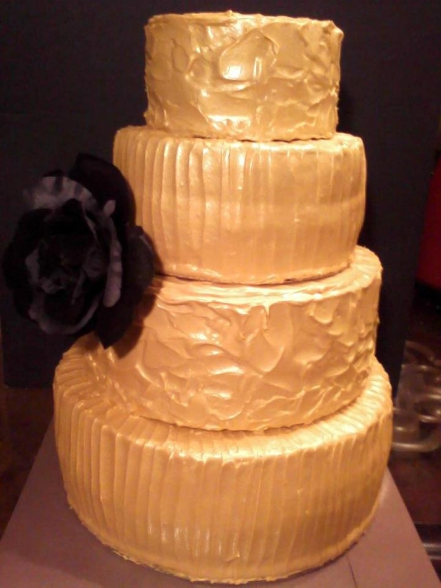 Gold Black Rose Wedding Midas Touch on Cake Central