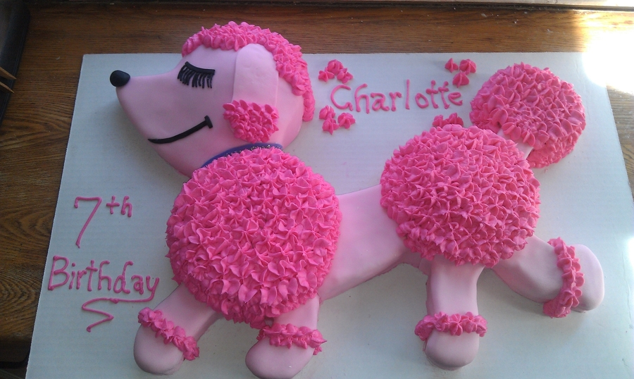 Marvelous Pink Poodle Cake Cakecentral Com Funny Birthday Cards Online Aeocydamsfinfo