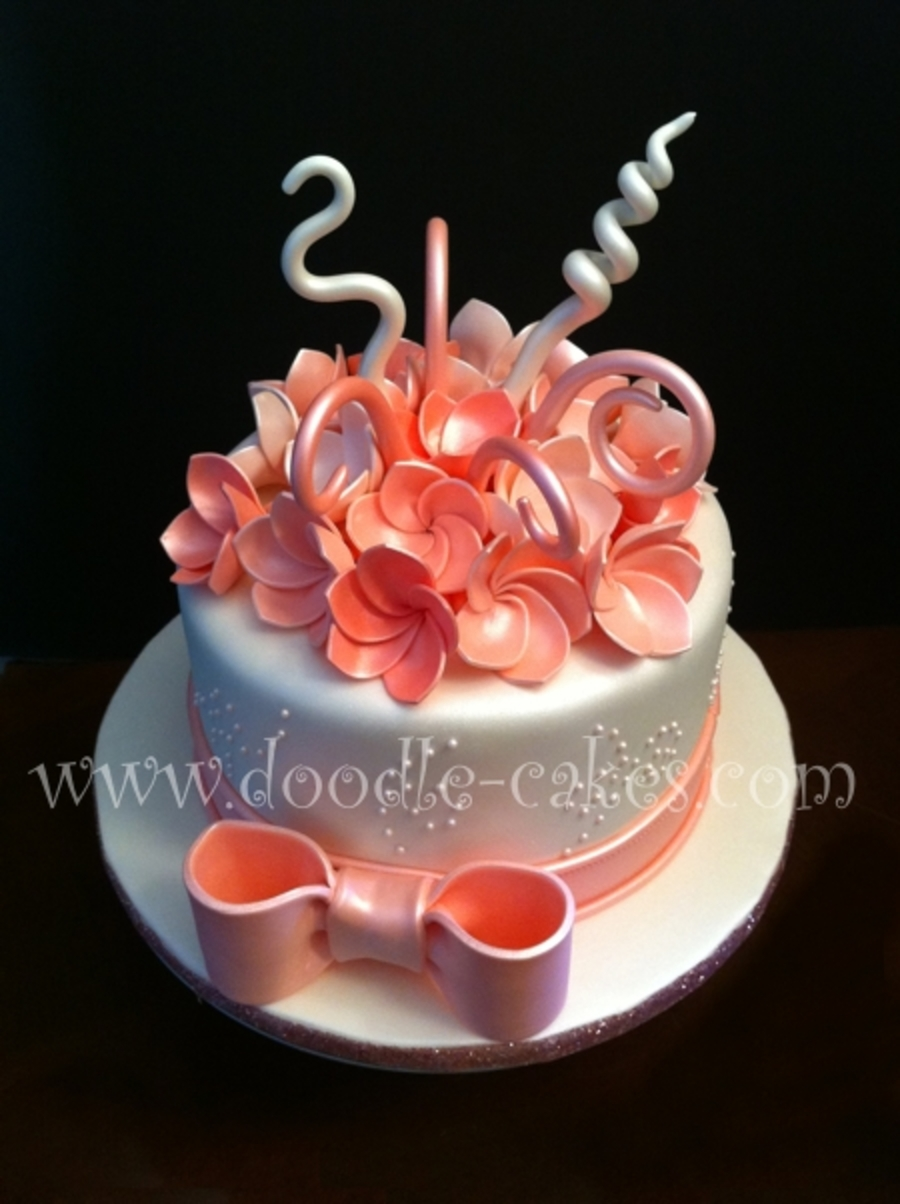 Frangipani Pink  on Cake Central