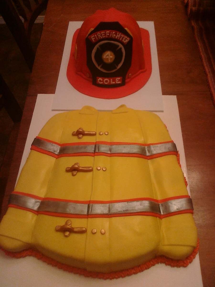 Firemans Helmet And Jacket on Cake Central