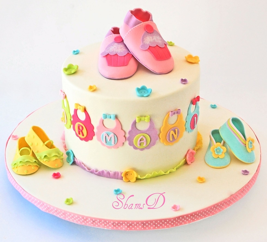 Baby Shower Cake N Cupcakes - CakeCentral.com