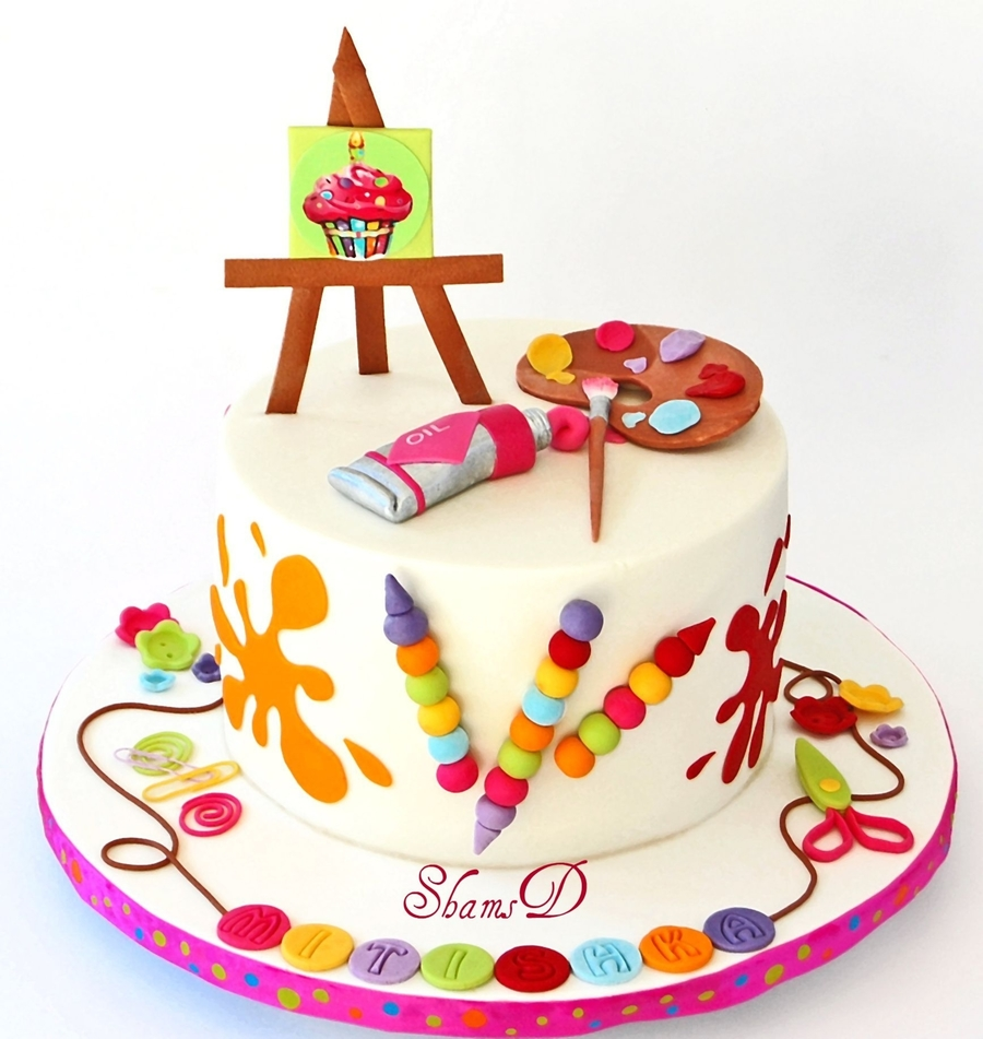 Cake Name Art : Art And Craft Cake - CakeCentral.com