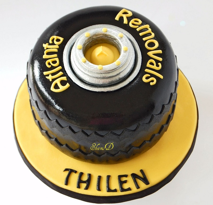 Truck Tyre Cake on Cake Central
