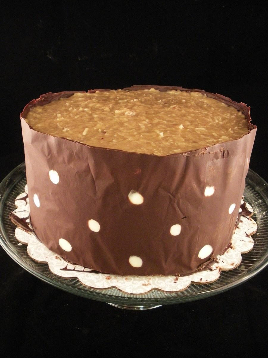 German Chocolate Sleeve Cake on Cake Central