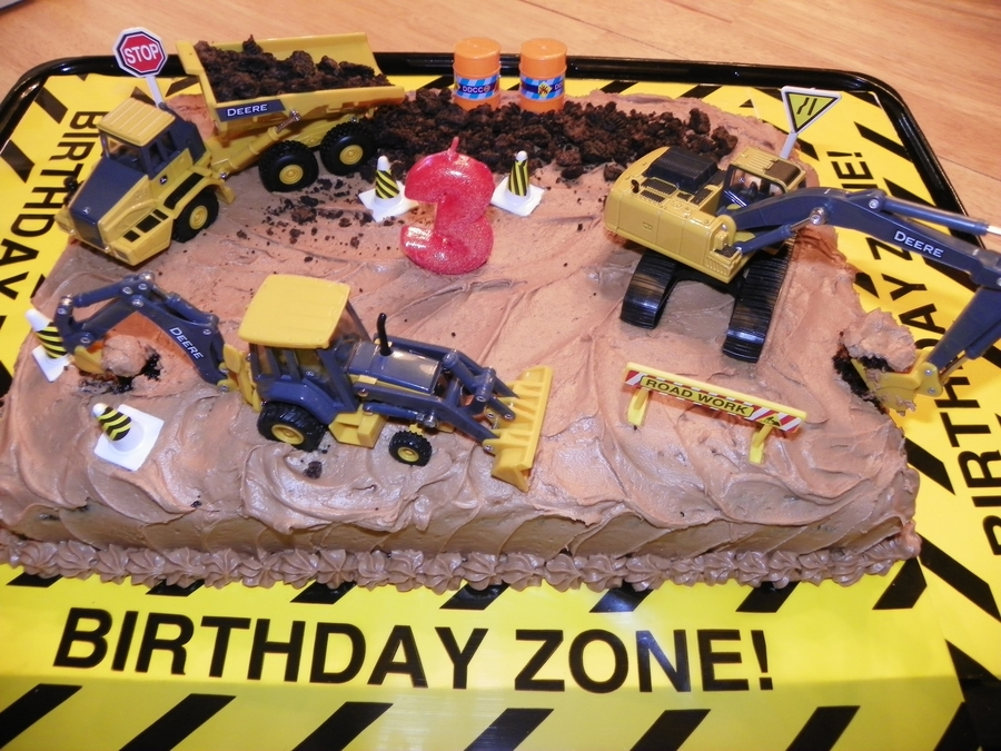 Construction Cake For 3rd Birthday
