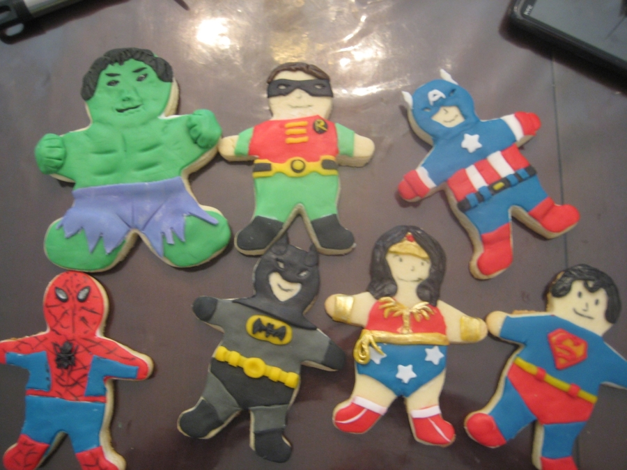 Superhero Cookies on Cake Central