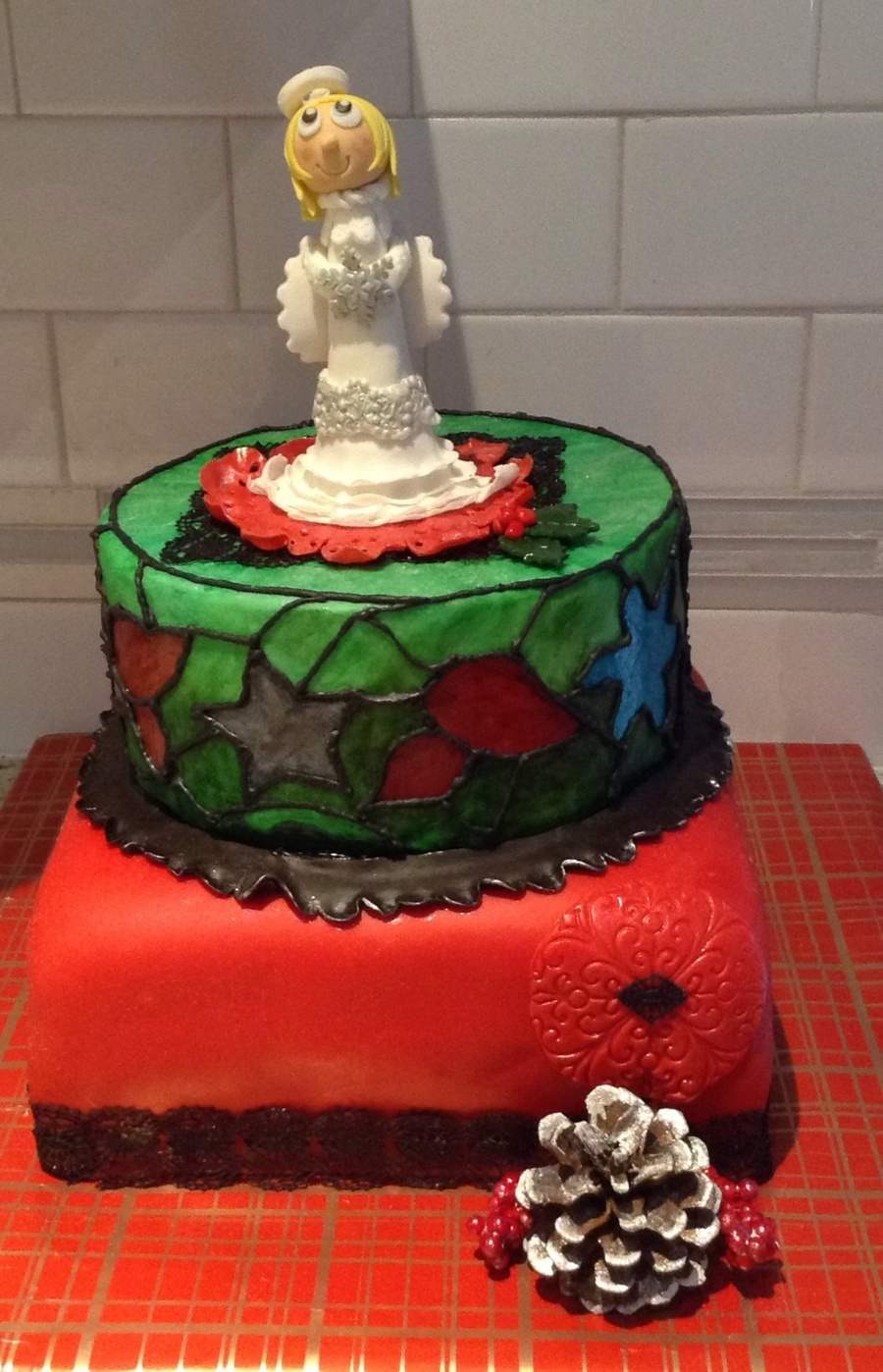 Christmas Themed Birthday Cake Cakecentral Com