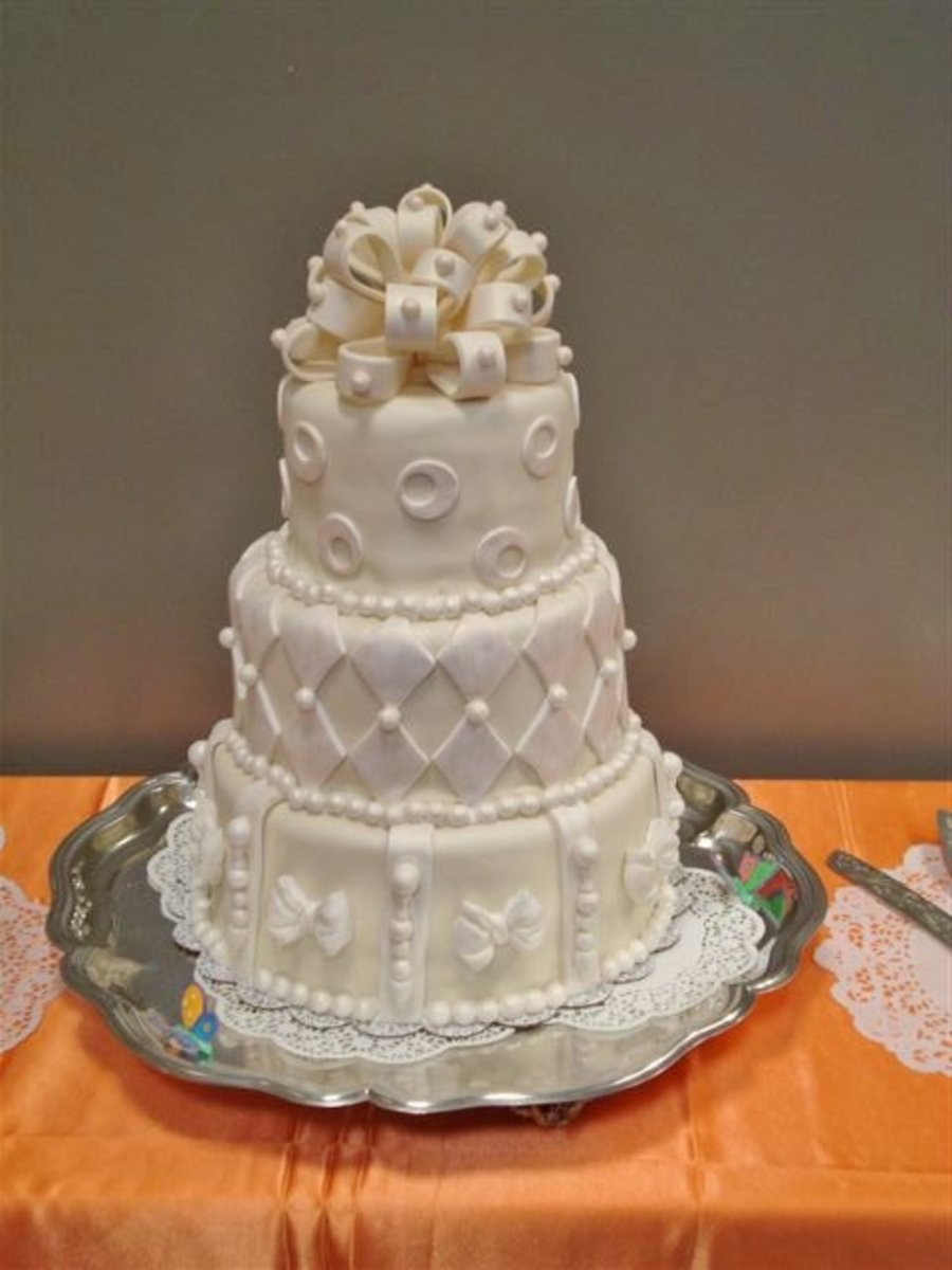 Whimsical Wedding Cake on Cake Central