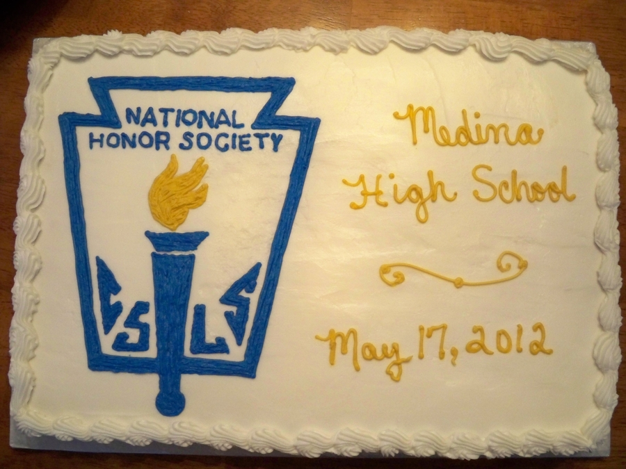 Nhs - National Honor Society  on Cake Central